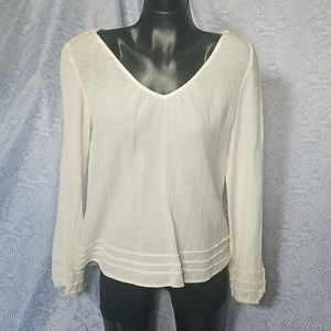 Billabong beach boho cotton top tunic cream shirt